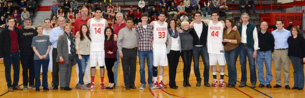 men's basketball Senior Day